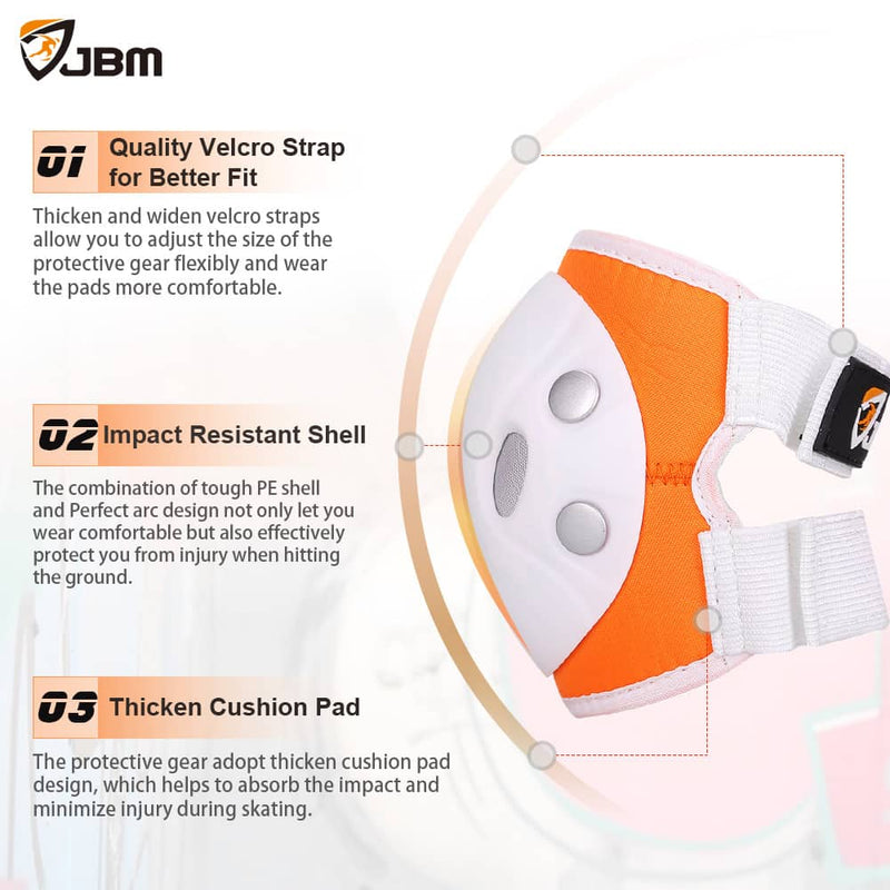 JBM - Protective Gear (Orange/White)-Binky Boppy