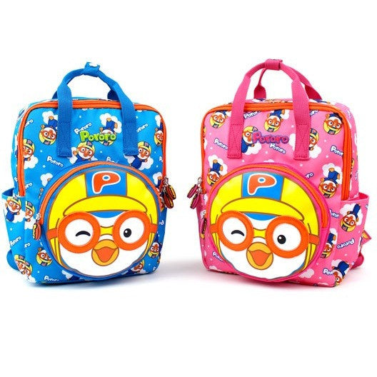 Winghouse - Pororo Face Pocket Backpack (Pink)-Binky Boppy