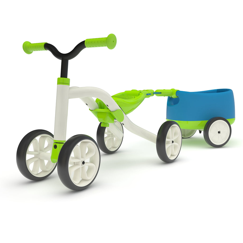 Chillafish - Quadie Bike + Trailie (Lime)-Binky Boppy