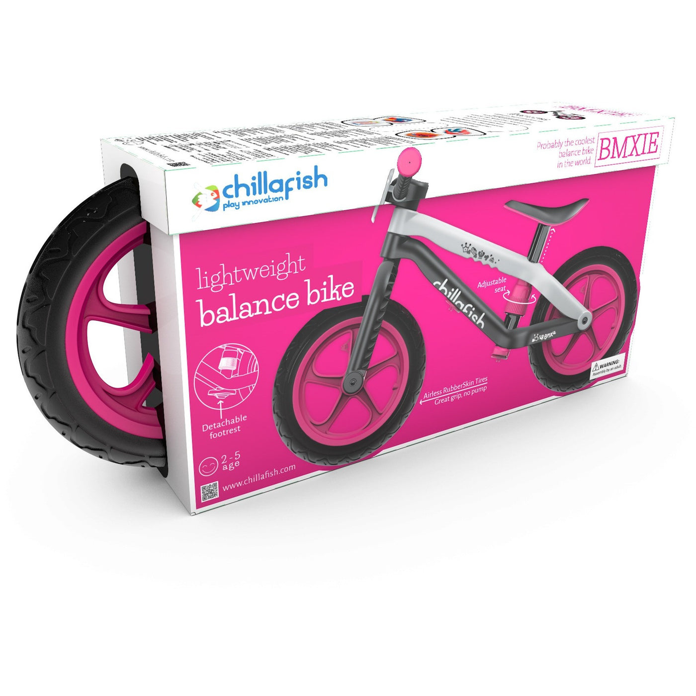 Chillafish BMXie-RS BMX Balance Bike with Airless RubberSkin Tyres