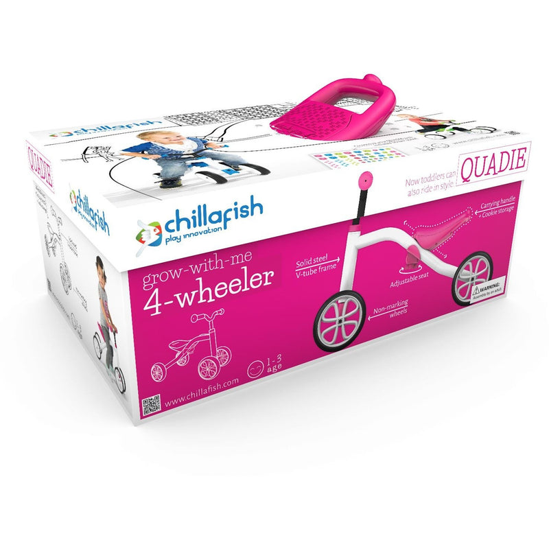 Chillafish - Quadie Bike (Pink)-Binky Boppy