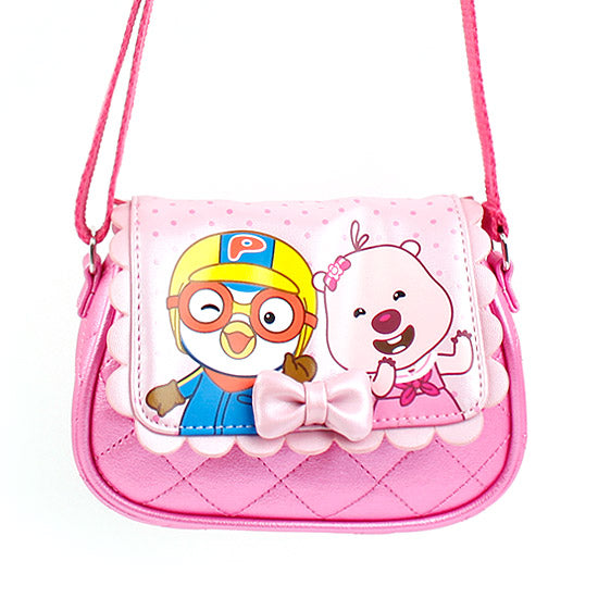 Winghouse - Pororo Quilting Ribbon Cross Bag-Binky Boppy