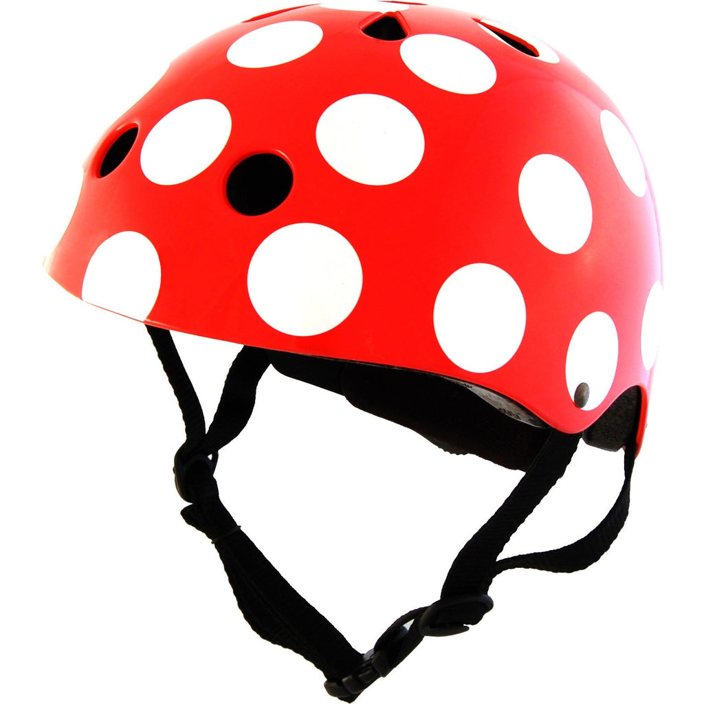 Kiddimoto - Red Dotty Helmet-Binky Boppy