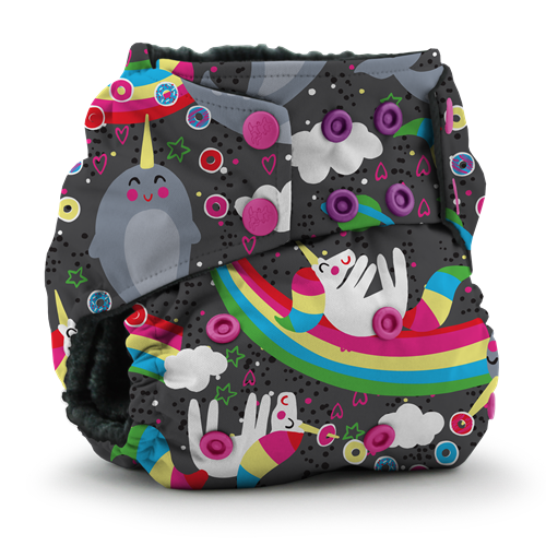 Kanga Care x Jujube - Rumparooz OBV One Size Cloth Diaper (Narwhal Nirvana)-Binky Boppy