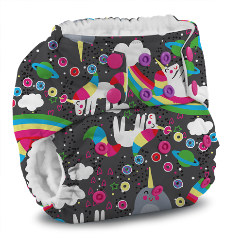 Kanga Care x Jujube - Rumparooz G2 Snap Cloth Diapers (Narwhal Nirvana)-Binky Boppy