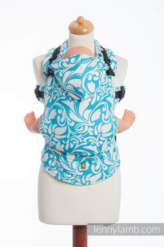 LennyLamb - Twisted Leaves Cream & Turquoise Carrier-Binky Boppy