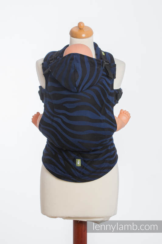 LennyLamb - Zebra Black & Navy Blue Carrier-Binky Boppy