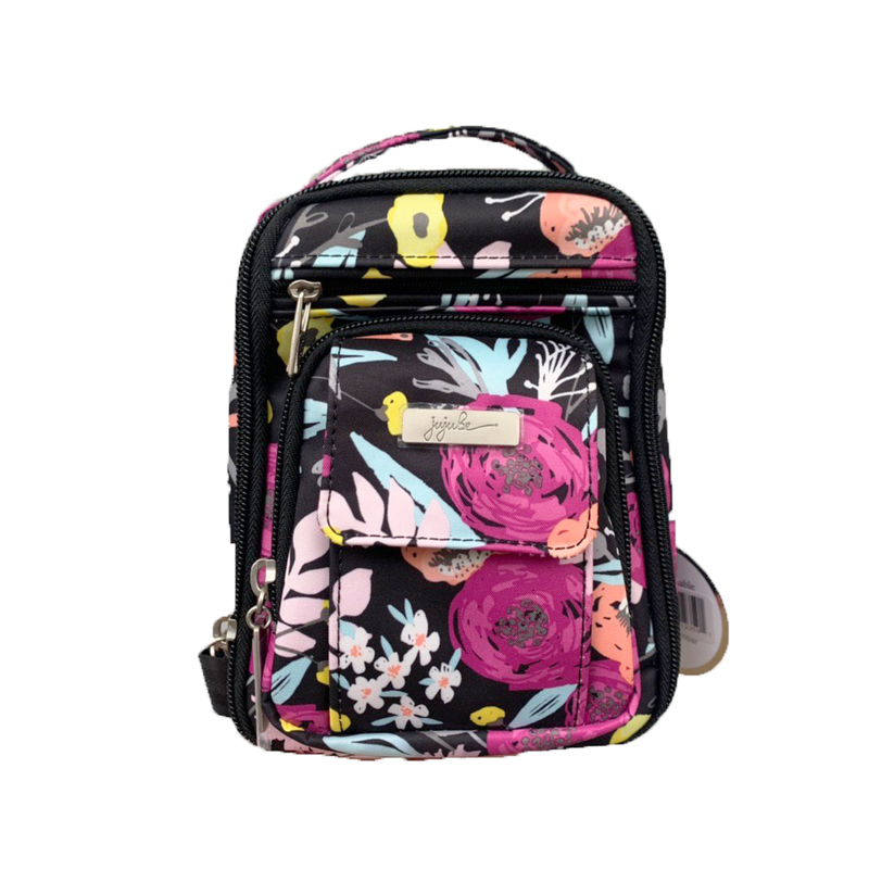 Jujube Onyx - Mini Be Right Back (Black & Bloom)-Binky Boppy