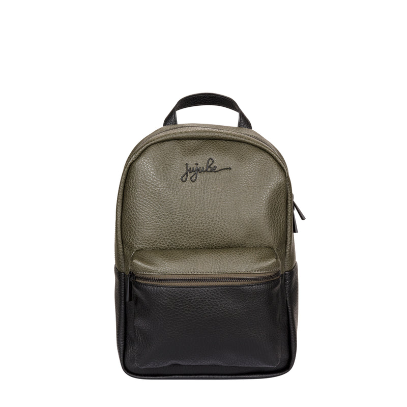 Jujube Leather - Mini Backpack (Olive Onyx)-Binky Boppy