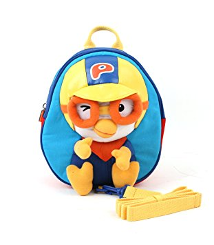 Winghouse - Pororo 3th Safety Harness Backpack (Blue)-Binky Boppy