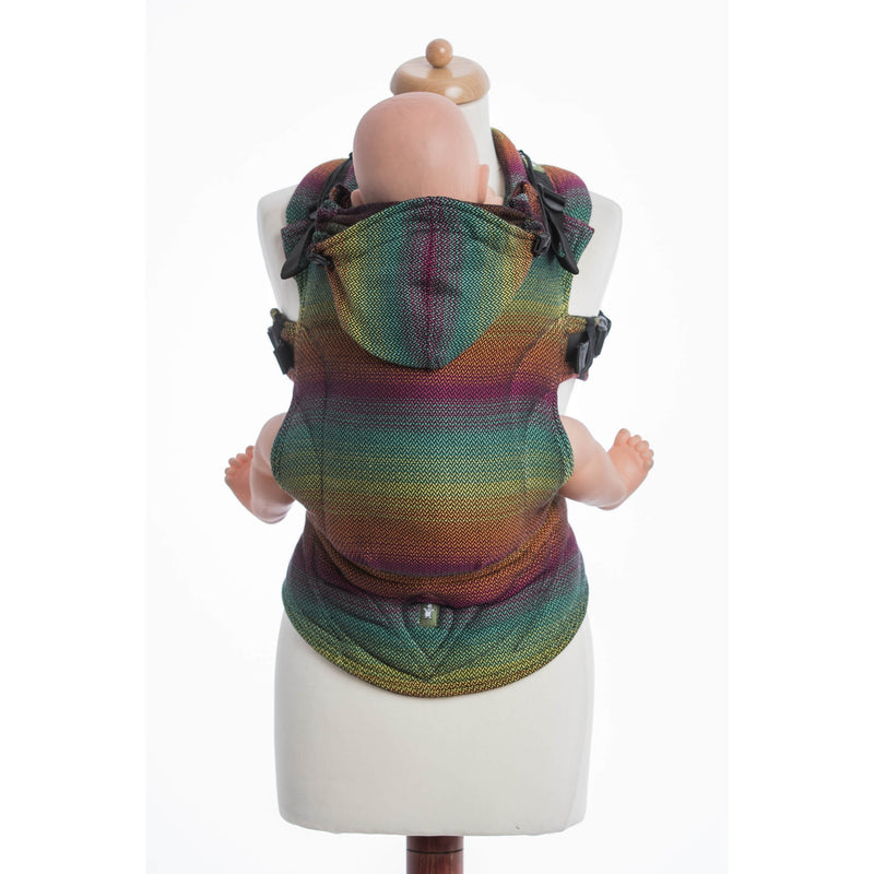 LennyLamb - Little Herringbone Imagination Dark Carrier-Binky Boppy