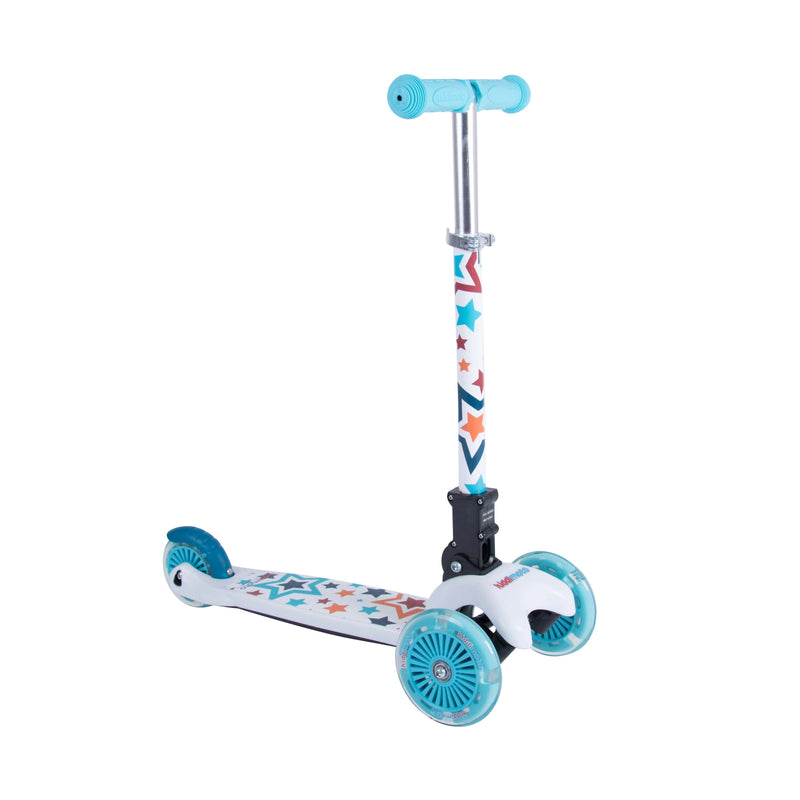 Kiddimoto - Stars U-Zoom Scooter-Binky Boppy