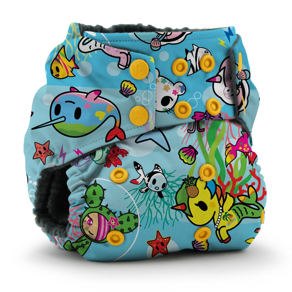 Kanga Care x Tokidoki - Rumparooz OBV One Size Cloth Diaper (TokiSea)-Binky Boppy