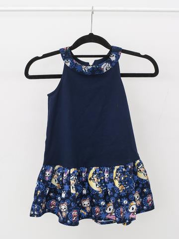 Tokidoki - Winter Dreams Dress in Blue (Kids)-Binky Boppy