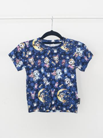 Tokidoki - Winter Dreams Tee in Blue (Kids)-Binky Boppy