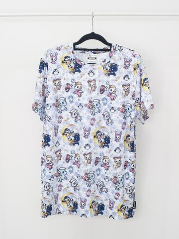 Tokidoki - Winter Wonderland Tee in White (Unisex Adult)-Binky Boppy