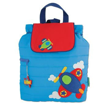 Stephen Joseph - Quilted Backpack (Airplane)-Binky Boppy
