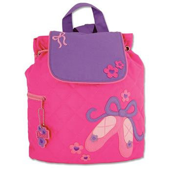 Stephen Joseph - Quilted Backpack (Ballet)-Binky Boppy