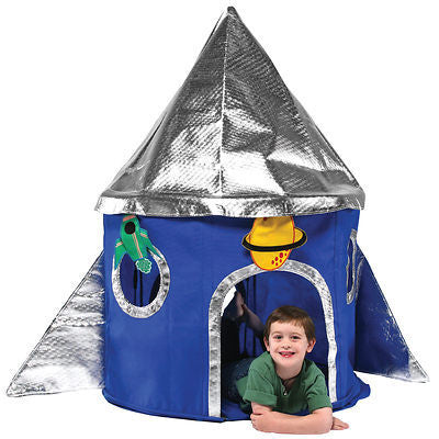 Bazoongi - Rocket Ship Play Tent-Binky Boppy