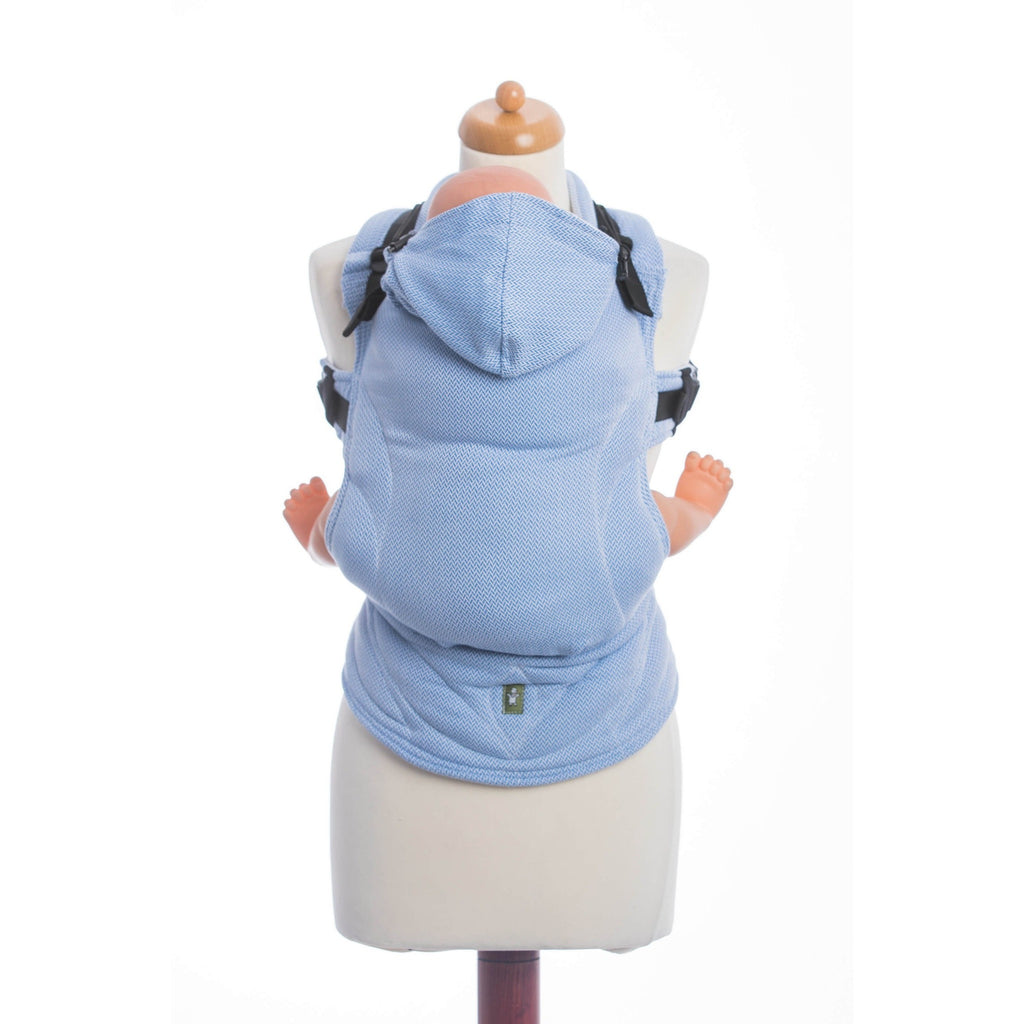 LennyLamb - Little Herringbone Blue Carrier-Binky Boppy