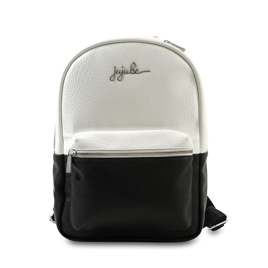 Jujube Leather - Mini Backpack (Black White)-Binky Boppy