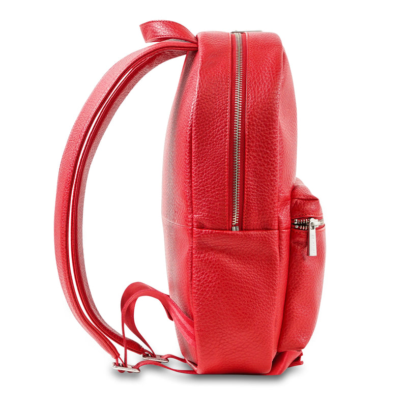 Jujube Leather - Mini Backpack (Red)-Binky Boppy