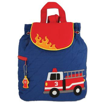 Stephen Joseph - Quilted Backpack (Firetruck)-Binky Boppy