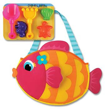 Stephen Joseph - Beach Tote (Fish)-Binky Boppy