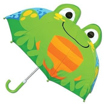 Stephen Joseph - 3D Umbrella (Frog)-Binky Boppy