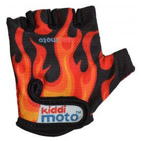 Kiddimoto - Flames Gloves (Medium)-Binky Boppy