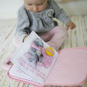 Oskar&Ellen - Interactive Books (Goodnight Book in Pink)-Binky Boppy