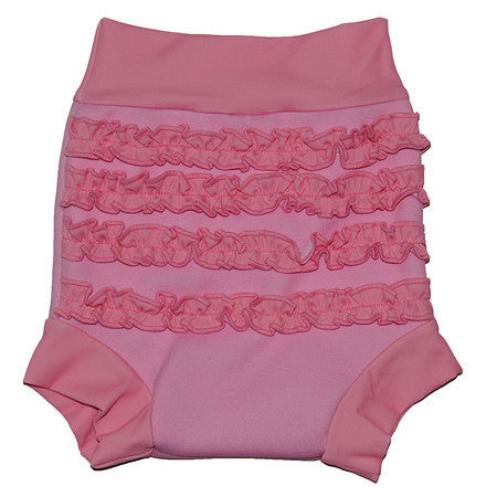 Splash About - Happy Nappy (Pink With Frilly Bum)-Binky Boppy