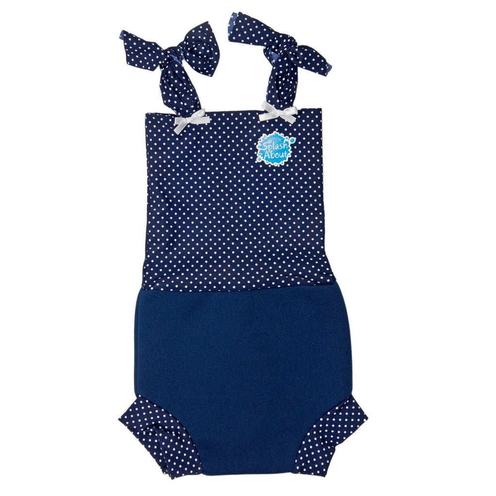 Splash About - Nappy Costume (Navy/White Dot Rib)-Binky Boppy