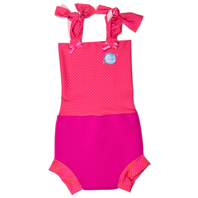 Splash About - Nappy Costume (Pink/Mango Dot)-Binky Boppy