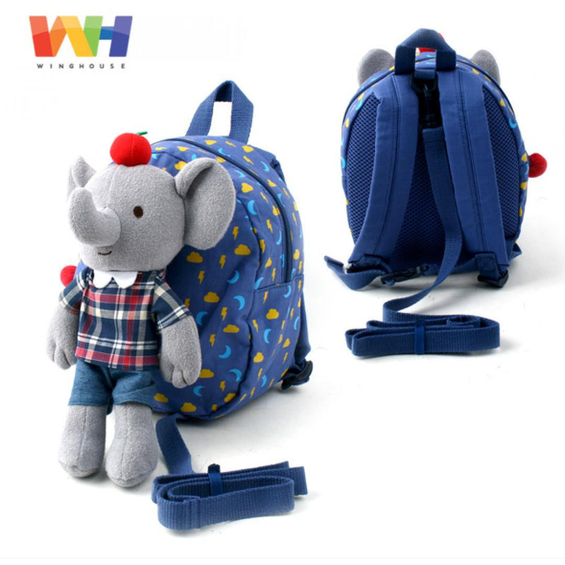 Winghouse - Jepiel Happy Safety Harness Backpack (Blue)-Binky Boppy