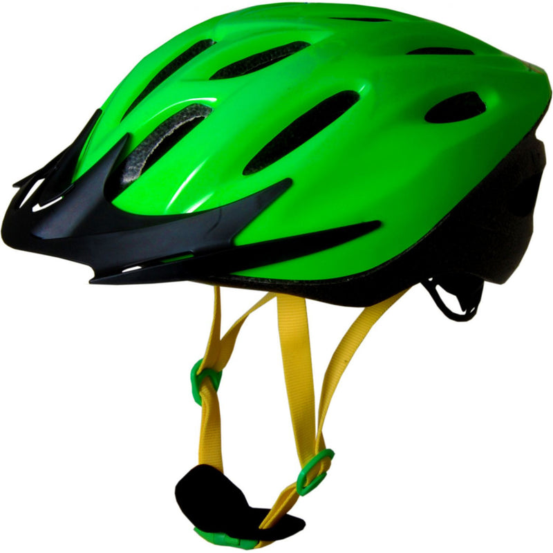 Kiddimoto - Neon Green Cycle Helmet-Binky Boppy