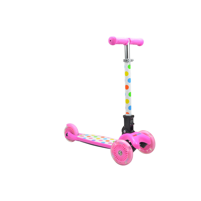 Kiddimoto - Pastel Dotty U-Zoom Scooter-Binky Boppy
