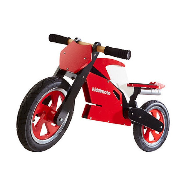 Kiddimoto - Red & White Superbike-Binky Boppy