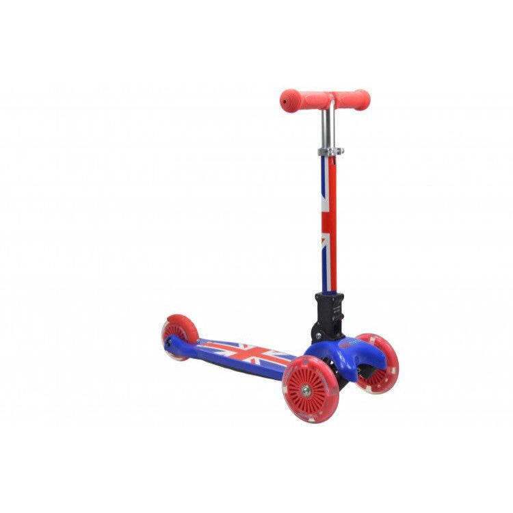 Kiddimoto - Union Jack U-Zoom Scooter-Binky Boppy