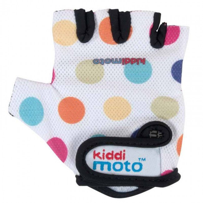 Kiddimoto - Pastel Dotty Gloves (Medium)-Binky Boppy