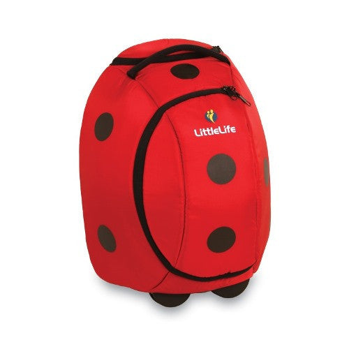 LittleLife - Animal Wheelie Duffle (Ladybird)-Binky Boppy