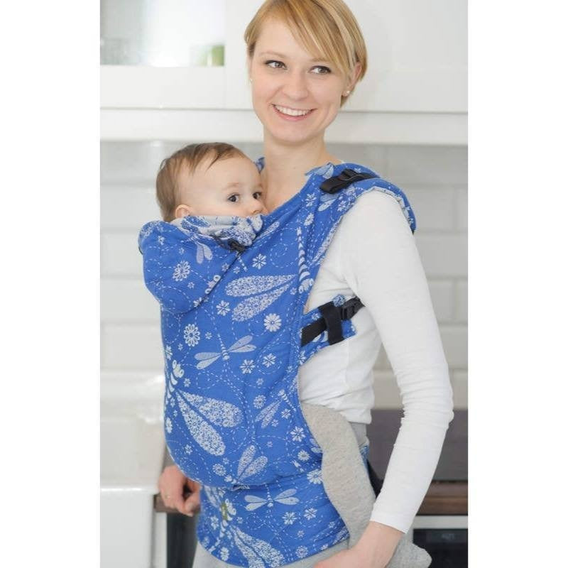 LennyLamb - Dragonfly Blue & White Carrier-Binky Boppy