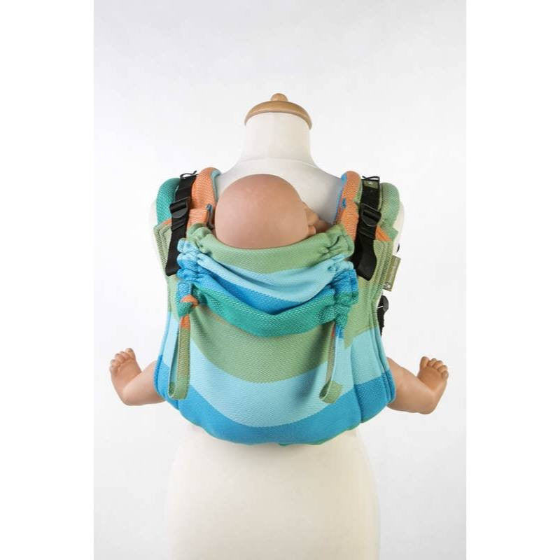 LennyLamb - Little Herringbone Sunflower Buckle Onbu-Binky Boppy