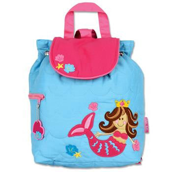 Stephen Joseph - Quilted Backpack (Mermaid)-Binky Boppy