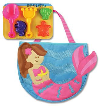 Stephen Joseph - Beach Tote (Mermaid)-Binky Boppy