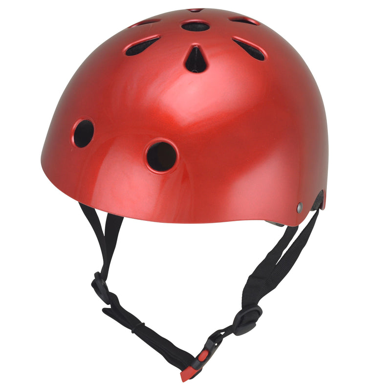 Kiddimoto - Metallic Red Helmet-Binky Boppy