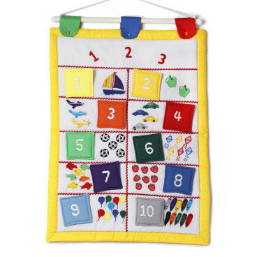 Oskar&Ellen - Interactive Wall Hanging (Numbers)-Binky Boppy