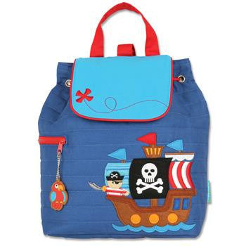 Stephen Joseph - Quilted Backpack (Pirate)-Binky Boppy