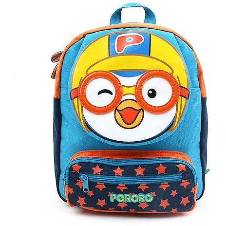 Winghouse - Pororo Face Safety Harness Backpack (Blue)-Binky Boppy