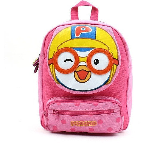 Winghouse - Pororo Face Safety Harness Backpack (Pink)-Binky Boppy